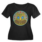 Vintage Owl Mandala Women's Plus Size Scoop Neck D