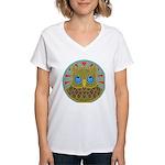 Vintage Owl Mandala Women's V-Neck T-Shirt