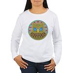 Vintage Owl Mandala Women's Long Sleeve T-Shirt
