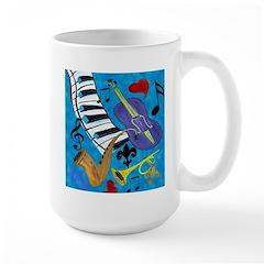 Jazz on Blue Large Mug