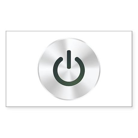 Power Button Sticker (Rectangle)