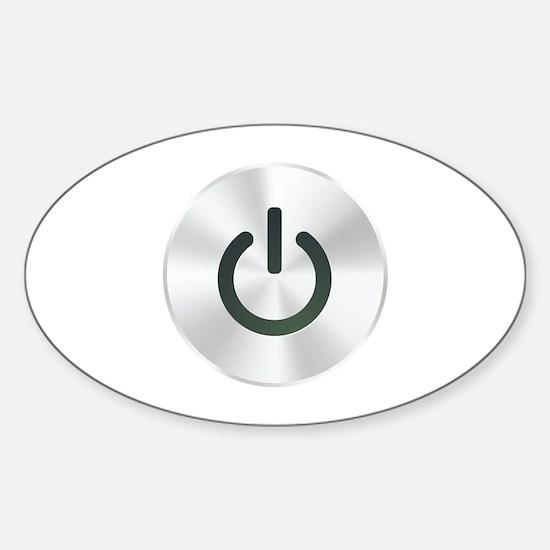 Power Button Sticker (Oval)