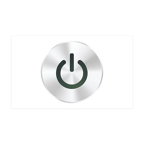Power Button 38.5 x 24.5 Wall Peel