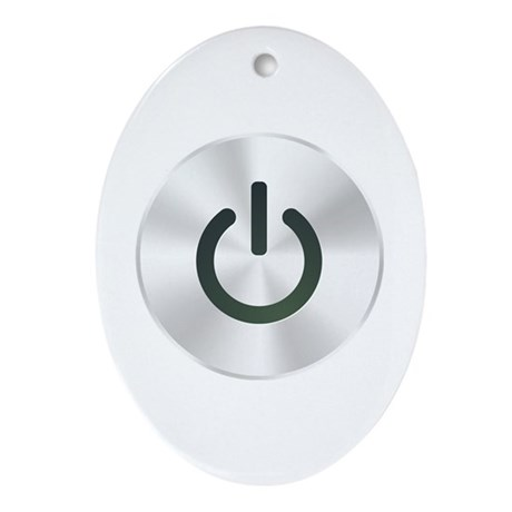 Power Button Ornament (Oval)