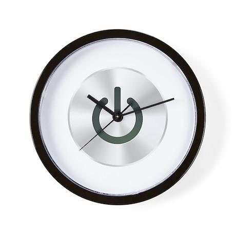 Power Button Wall Clock