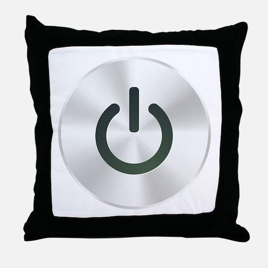 Power Button Throw Pillow