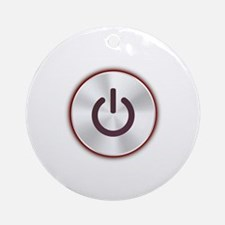 Power Button Ornament (Round)