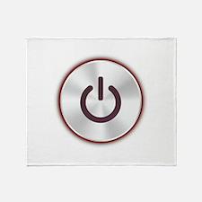 Power Button Throw Blanket