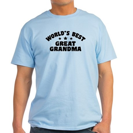 World's Best Great Grandma Light T-Shirt