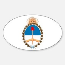 Argentina Coat of Arms Oval Decal