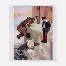 Roosevelt Bears in Venice Throw Blanket