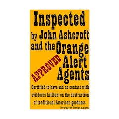Orange Alert Inspection Decal