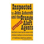 Orange Alert Inspection Sticker