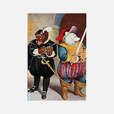 Roosevelt Bears Play Shakespeare Rectangle Magnet