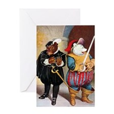 Roosevelt Bears Play Shakespeare Greeting Card