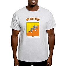 Bhutan Ash Grey T-Shirt