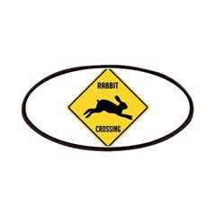 Rabbit Crossing Sign Patches