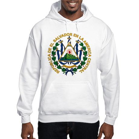 El Salvador Coat of Arms Hooded Sweatshirt