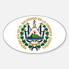El Salvador Coat of Arms Oval Decal