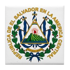 El Salvador Coat of Arms Tile Coaster