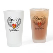 Cure Appendix Cancer Drinking Glass