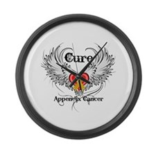 Cure Appendix Cancer Large Wall Clock