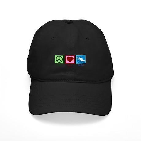 Peace Love Surfing Black Cap