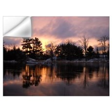 Mississippi River Dawn Wall Art Wall Decal
