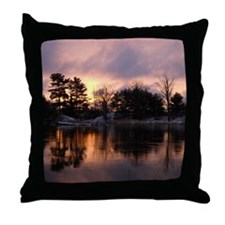Mississippi River Dawn Throw Pillow