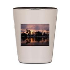 Mississippi River Dawn Shot Glass