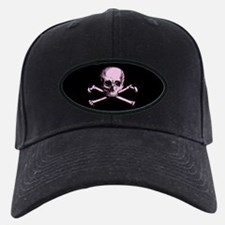 Pink Skull and Crossbones Baseball Hat