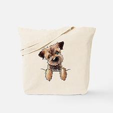 Pocket Border Terrier Tote Bag
