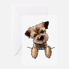 Pocket Border Terrier Greeting Card