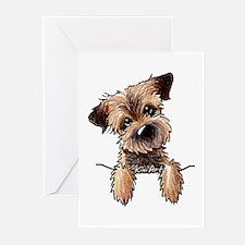 Pocket Border Terrier Greeting Cards (Pk of 10)