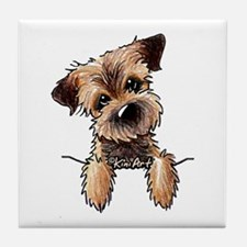 Pocket Border Terrier Tile Coaster