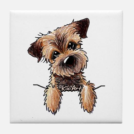 Pocket Border Terrier Tile Coaster