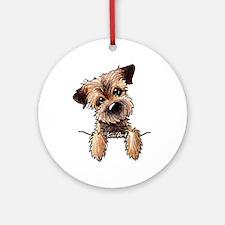 Pocket Border Terrier Ornament (Round)