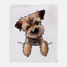 Pocket Border Terrier Throw Blanket