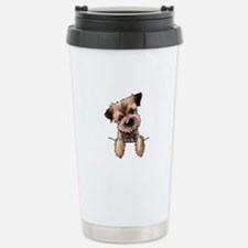 Pocket Border Terrier Stainless Steel Travel Mug