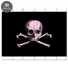 Pink Skull and Crossbones Puzzle