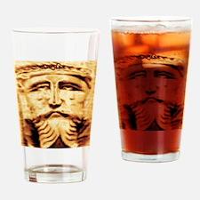 Gold Jesus Drinking Glass