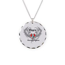 Cure Cervical Cancer Necklace Circle Charm