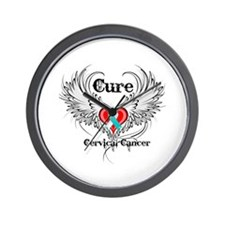 Cure Cervical Cancer Wall Clock