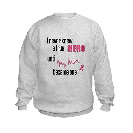 Became a Hero - Aunt Kids Sweatshirt