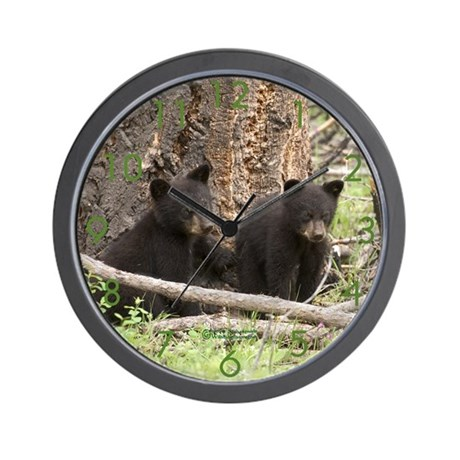 """Bear Cub Twins"" Wall Clock"