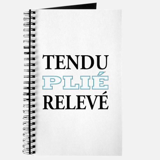 Tendu, Plie, Releve (Blue Design) Journal