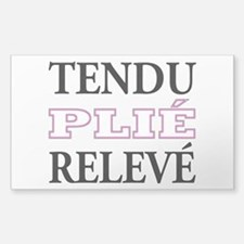Tendu, Plie, Releve (Pink Design) Decal