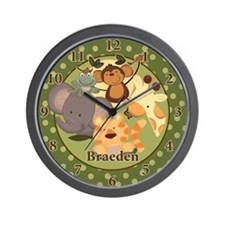 Jungle Safari Wall Clock - Braeden