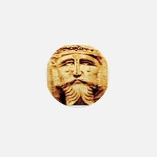 Gold Jesus Mini Button