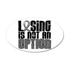 Losing Is Not An Option Parkinsons 22x14 Oval Wall